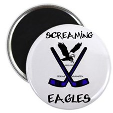 Screaming Eagles Round Magnet