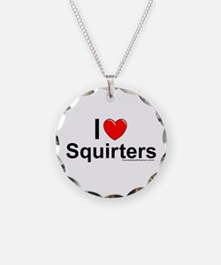 Squirters Necklace Circle Charm