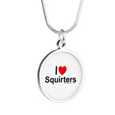Squirters Silver Round Necklace