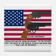 God Bless the USA and the Second Amendment Tile Co