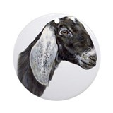 Nubian goat Round Ornaments
