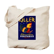 1940 Fighting Rooster Vegetable Crate Label Tote B