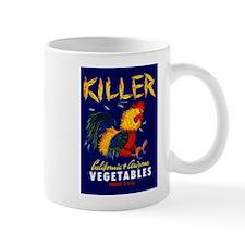 1940 Fighting Rooster Vegetable Crate Label Mug