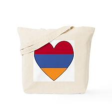 Armenian Flag Heart Tote Bag