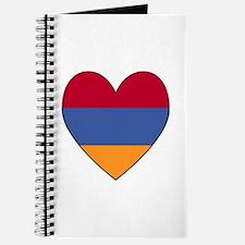 Armenian Flag Heart Journal