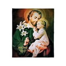St Joseph Guardian of Jesus Throw Blanket