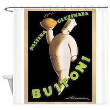 Buitoni, Food, Vintage Poster Shower Curtain