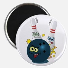 Bowling Ball and Pins Magnet
