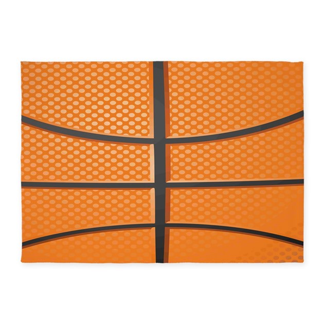 Basketball 5'x7'Area Rug By DecorativeDesigns