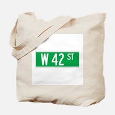 W 42 St., New York - USA Tote Bag