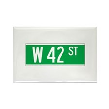 W 42 St., New York - USA Rectangle Magnet