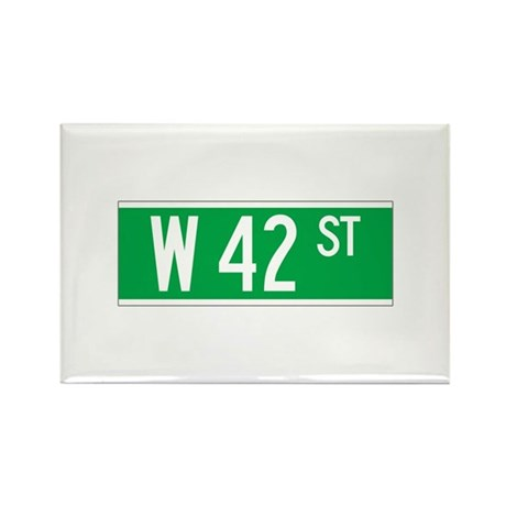 W 42 St., New York - USA Rectangle Magnet (100 pa