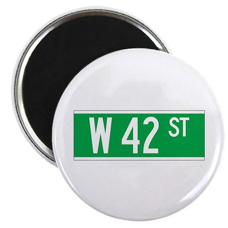 "W 42 St., New York - USA 2.25"" Magnet (100 pack)"