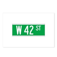 W 42 St., New York - USA Postcards (Package of 8)
