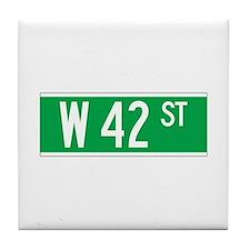 W 42 St., New York - USA Tile Coaster