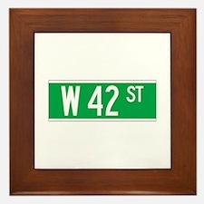 W 42 St., New York - USA Framed Tile