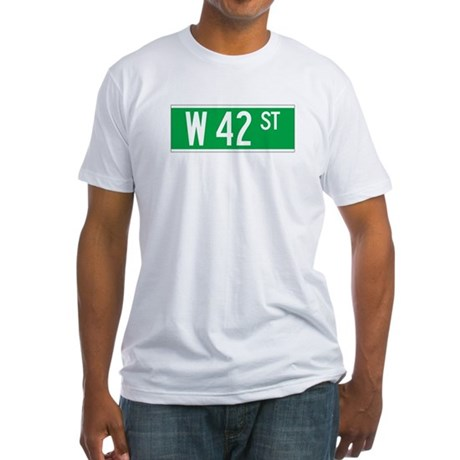 W 42 St., New York - USA Fitted T-Shirt
