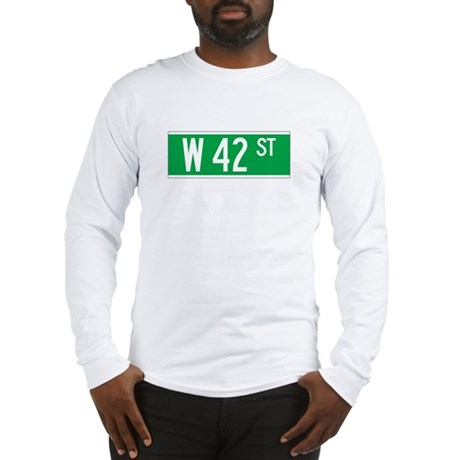 W 42 St., New York - USA Long Sleeve T-Shirt