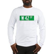 W 42 St., New York - USA Long Sleeve T-Shirt