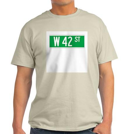 W 42 St., New York - USA Ash Grey T-Shirt
