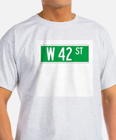 W 42 St., New York - USA Ash Grey T-Shirt