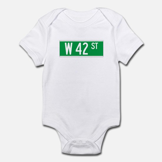 W 42 St., New York - USA Infant Bodysuit