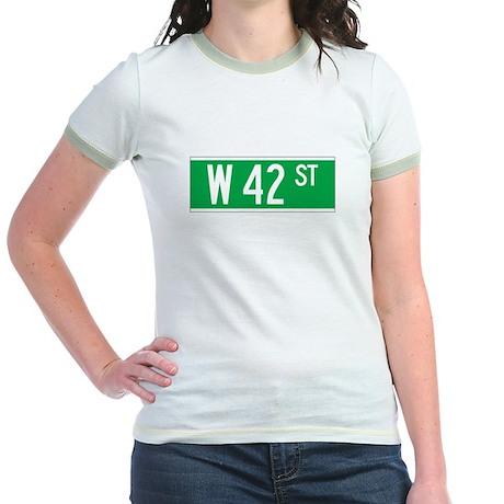W 42 St., New York - USA Jr. Ringer T-Shirt