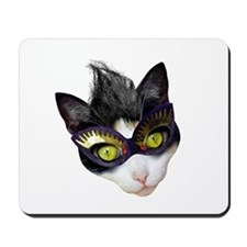 Masked Cat Mousepad