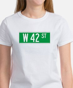 W 42 St., New York - USA Women's T-Shirt