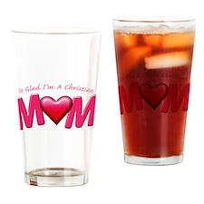 GladImChristianMom copy Drinking Glass