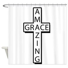 AmazingGrace(cross) copy Shower Curtain
