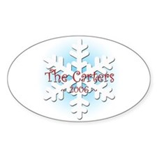 Snowflake - Carter Oval Decal