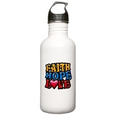 FaithHopeLove copy Water Bottle