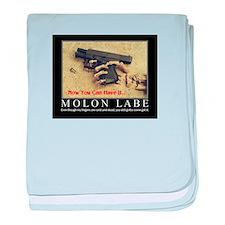 Molon Labe even now baby blanket