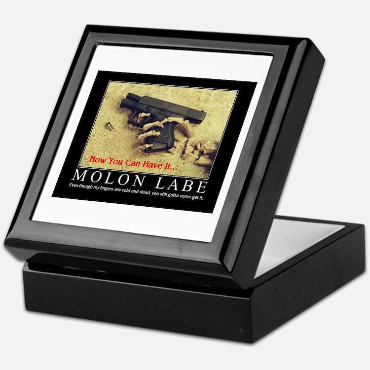 Molon Labe even now Keepsake Box
