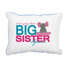 Big Sister Again Rectangular Canvas Pillow