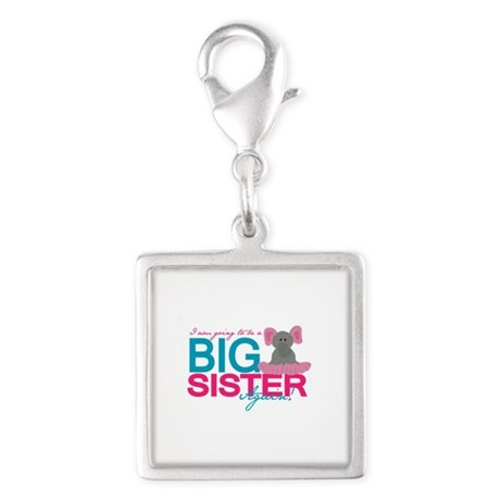 Big Sister Again Silver Square Charm
