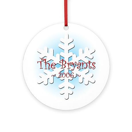 Snowflake - Bryant Ornament (Round)
