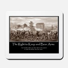 The Right to Keep and Bear Arms Mousepad
