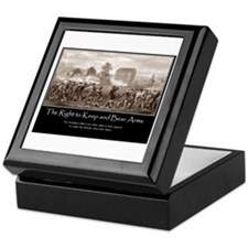 The Right to Keep and Bear Arms Keepsake Box