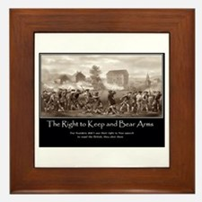 The Right to Keep and Bear Arms Framed Tile