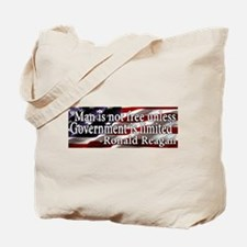 Man is not free unless Government is limited Tote