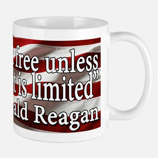 Man is not free unless Government is limited Mug