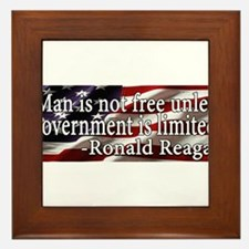 Man is not free unless Government is limited Frame