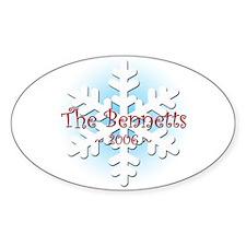 Snowflake - Bennett Oval Decal