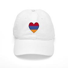 Flag of Aremenia Heart Baseball Cap