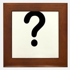 QUESTION MARK Framed Tile