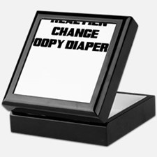 REAL MEN CHANGE POOPY DIAPERS Keepsake Box