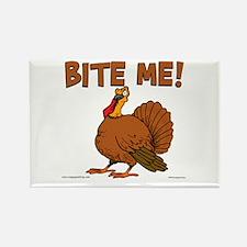 Bite Me Turkey Rectangle Magnet