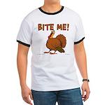 Bite Me Turkey Ringer T